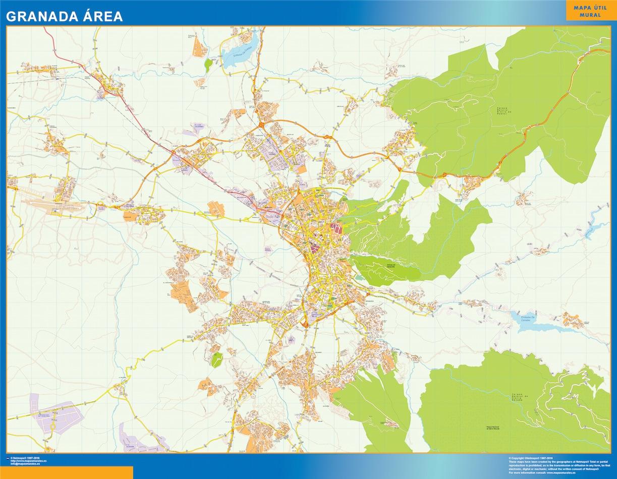 Granada Mapa Area
