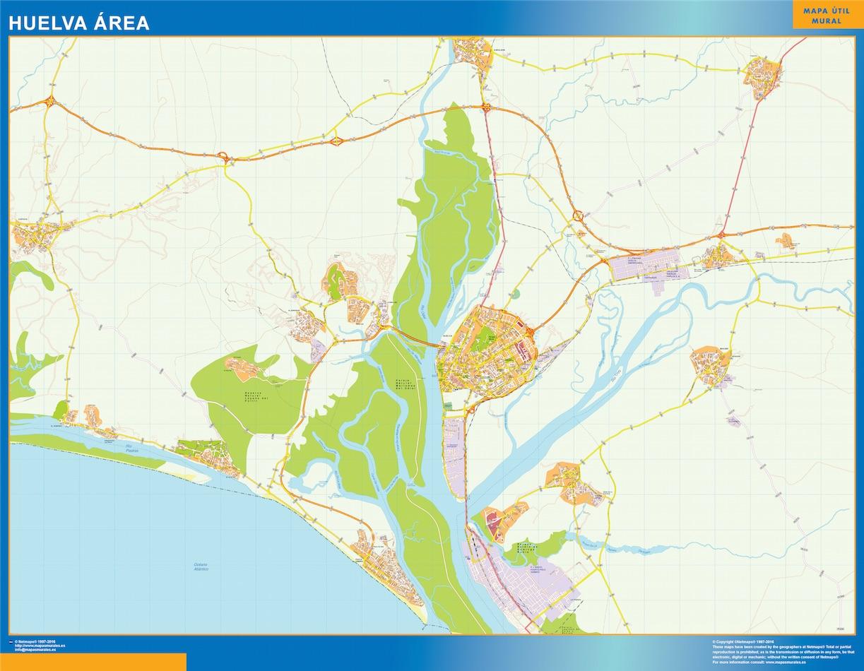 Huelva Mapa Area
