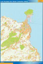 Las Palmas Gran Canaria Mapa Area