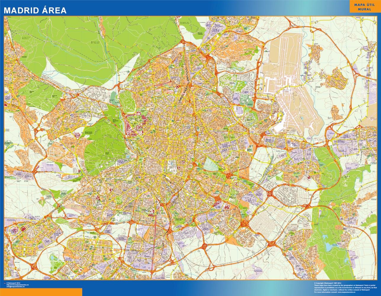 Madrid Mapa Area
