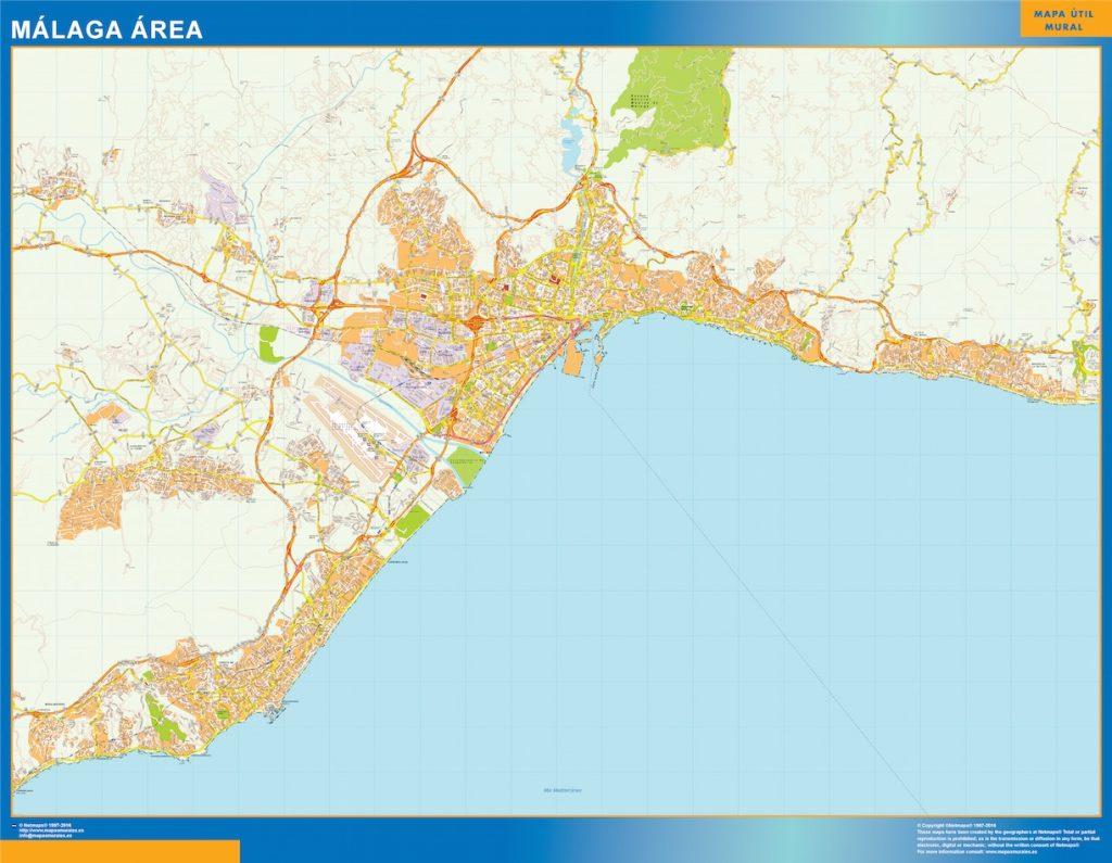 Malaga Mapa Area