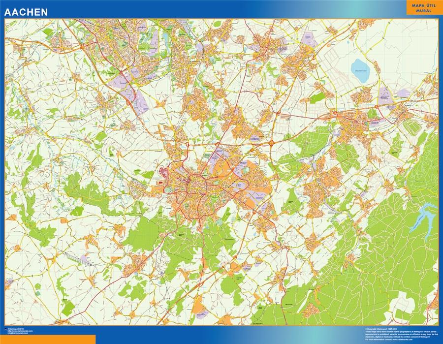 Mapa Aachen