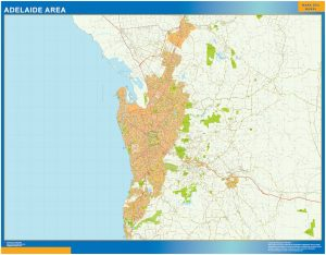 Mapa Adelaide Area