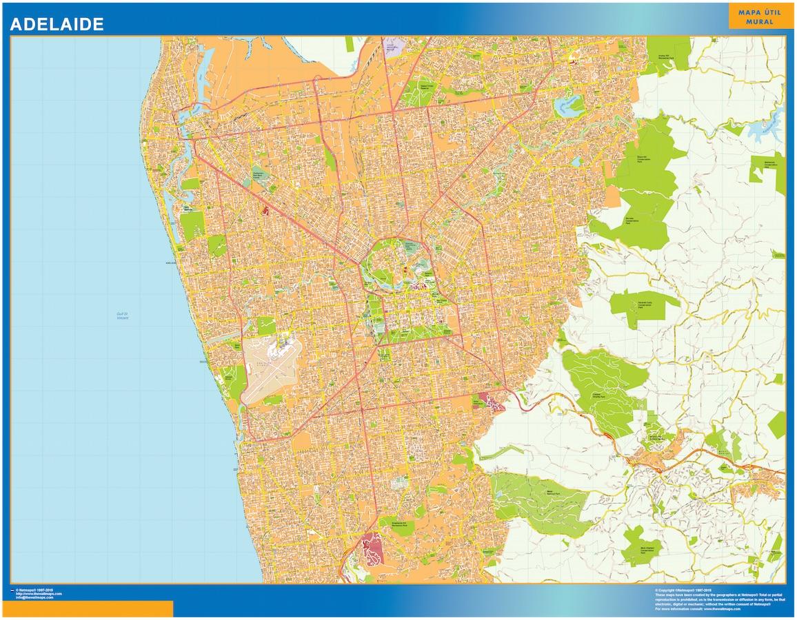 Mapa Adelaide Australia