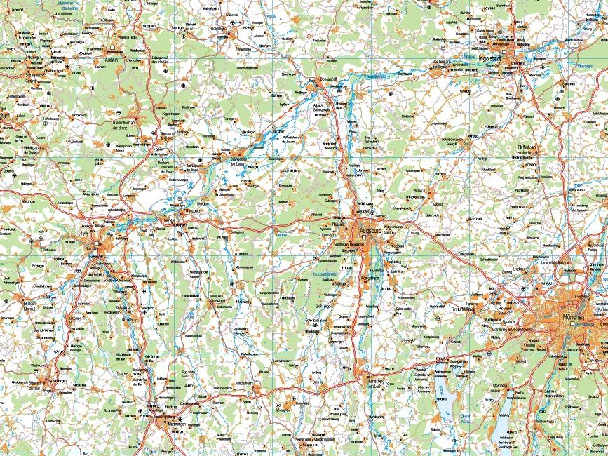 Mapa Alemania Sur