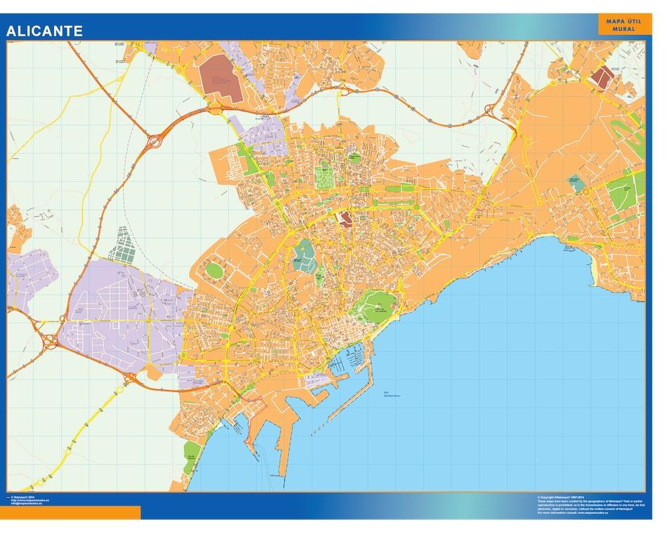 Mapa Alicante callejero
