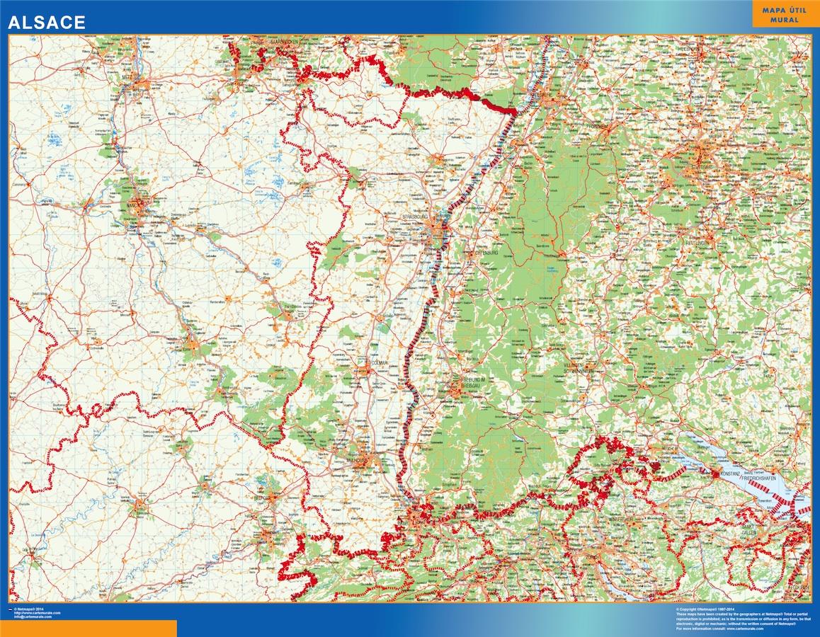 Mapa Alsace