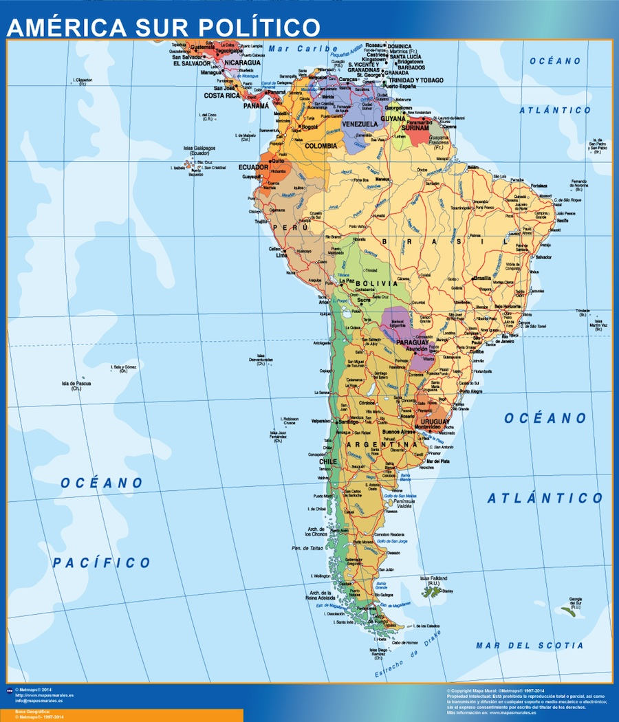 Mapa America Sur