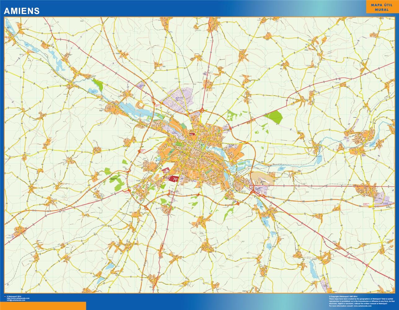 Mapa Amiens