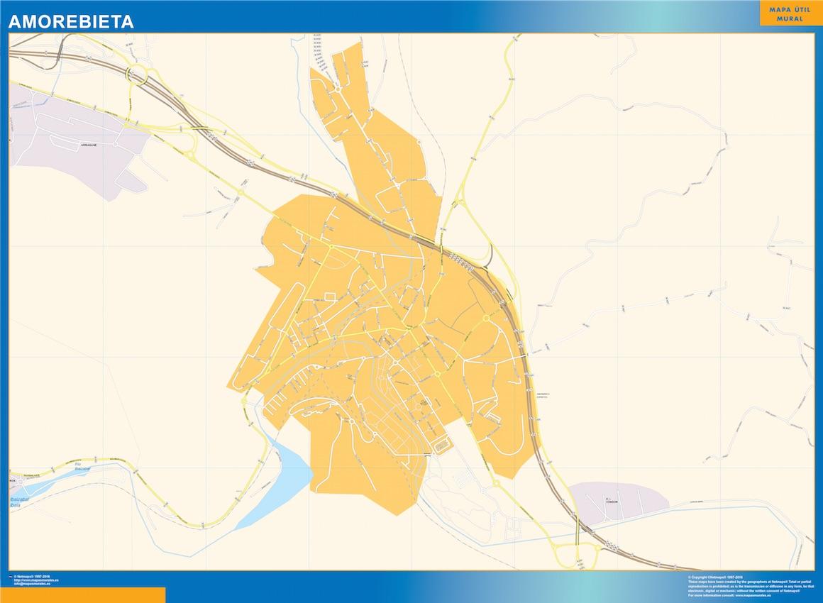 Mapa Amorebieta