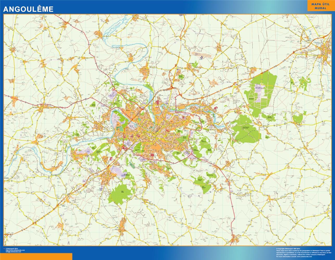 Mapa Angouleme