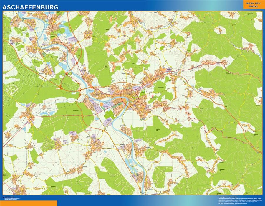 Mapa Aschaffenburg