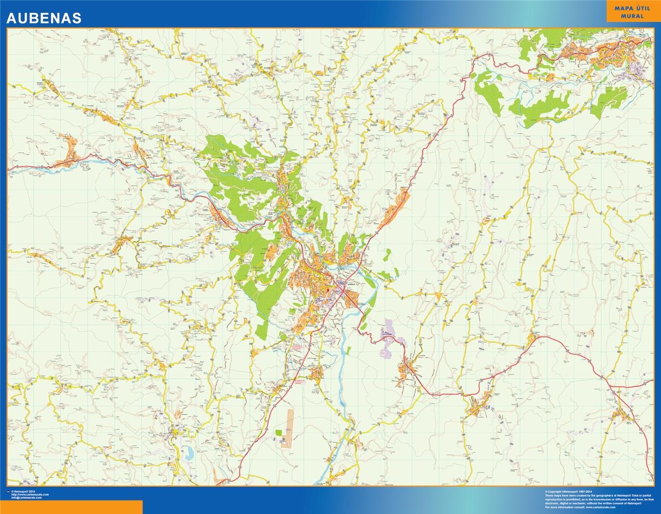 Mapa Aubenas