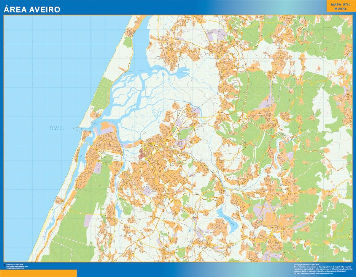 Mapa Aveiro Area