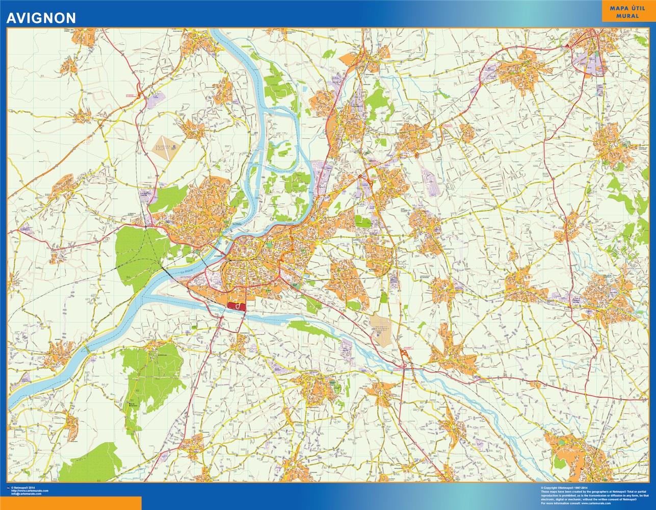 Mapa Avignon