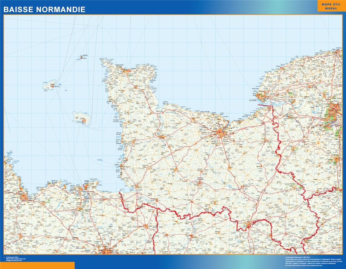 Mapa Baisse Normandie