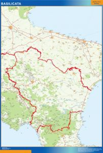 Mapa Basilicata