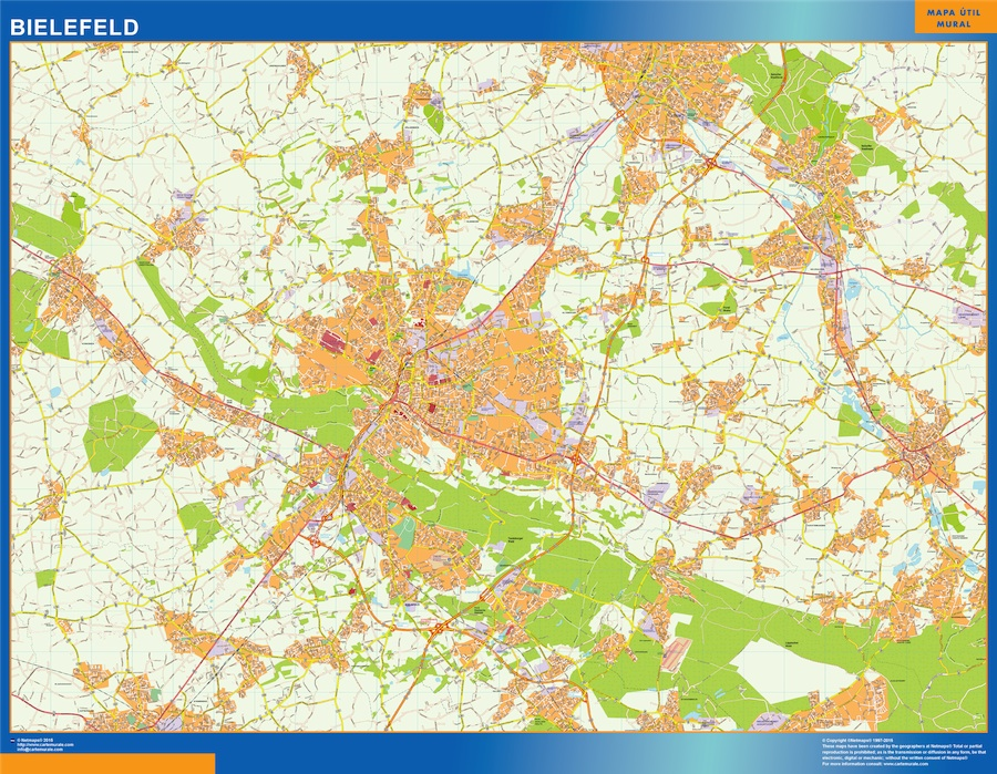 Mapa Bielefeld