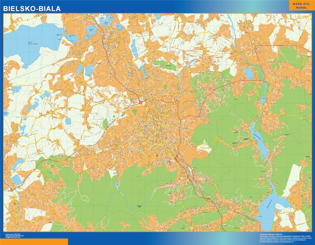 Mapa Bielsko Biala