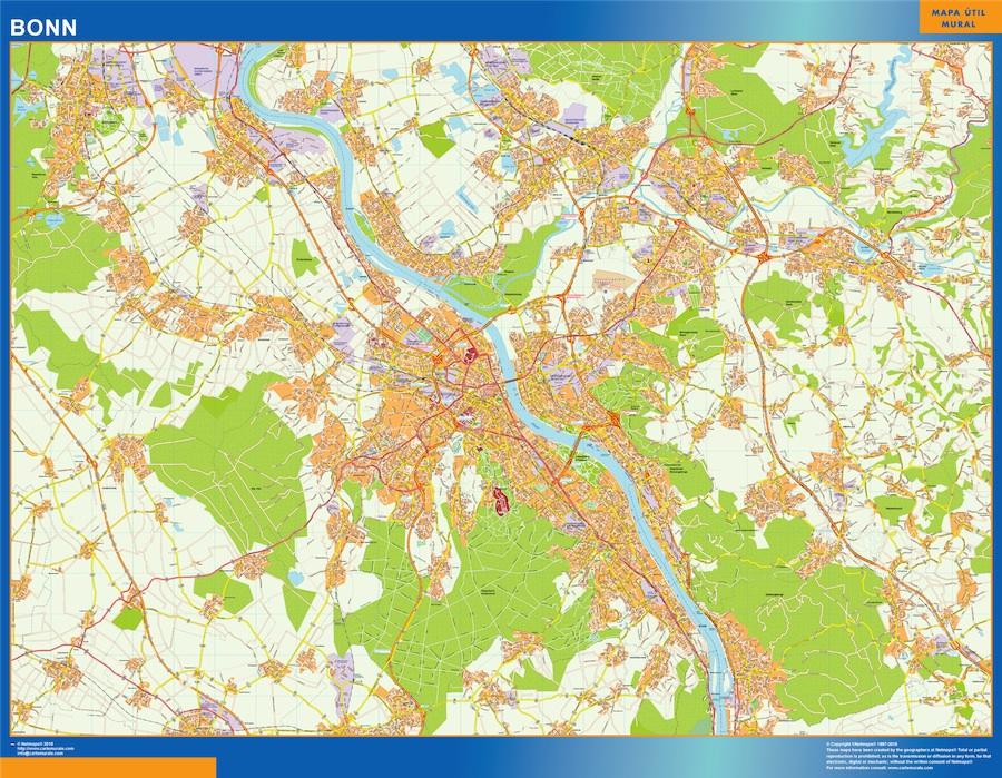 Mapa Bonn