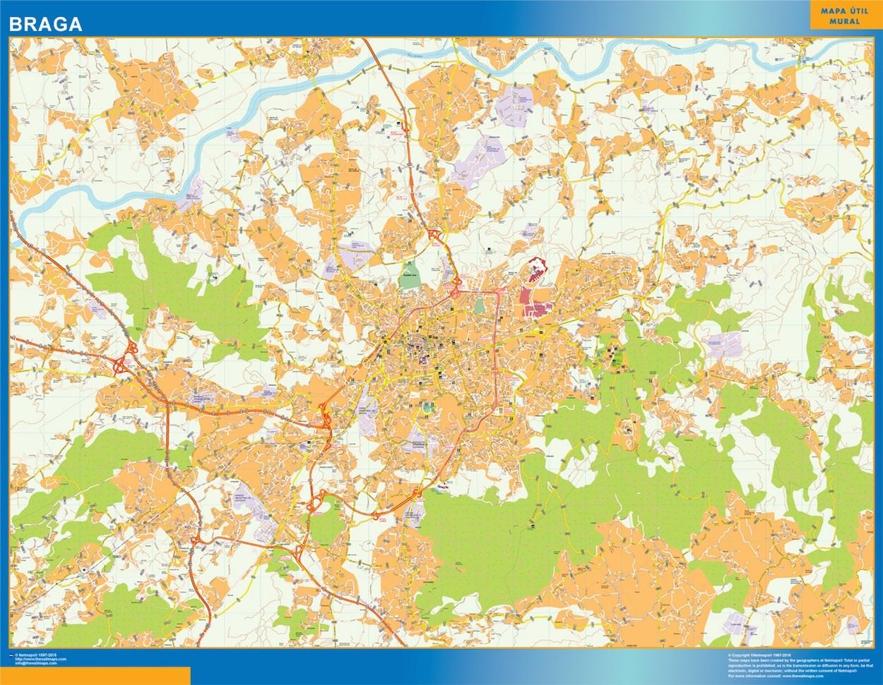 Mapa Braga