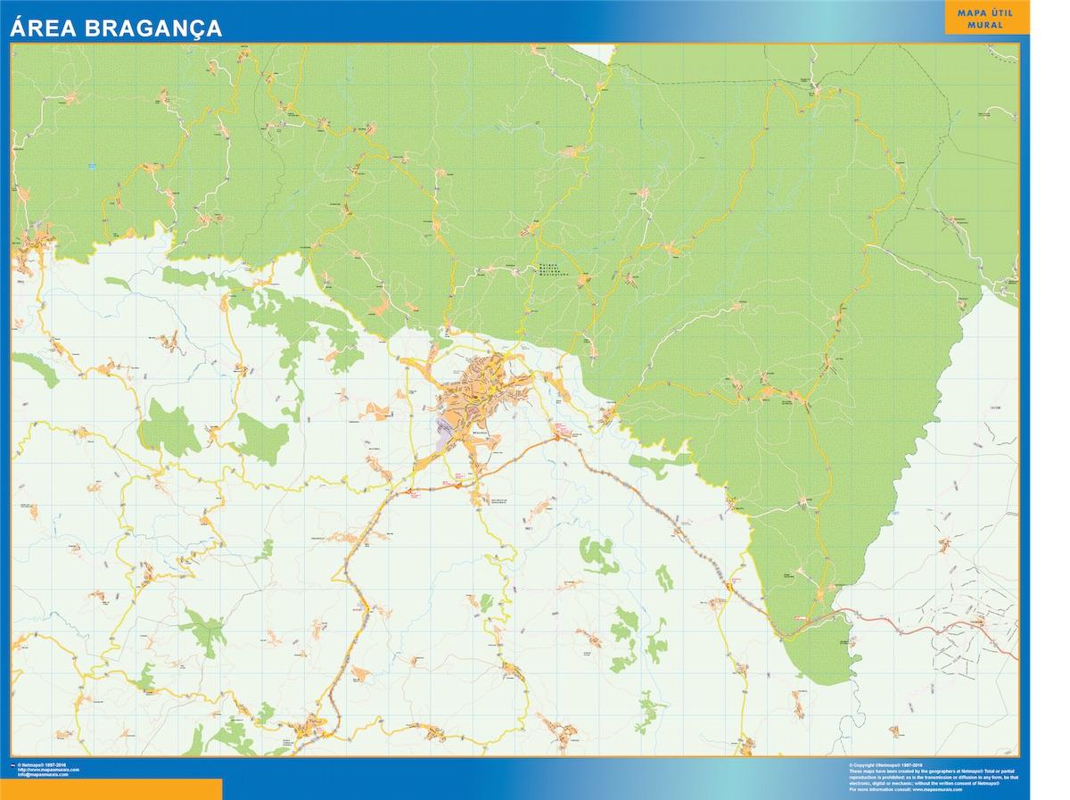Mapa Braganca Area