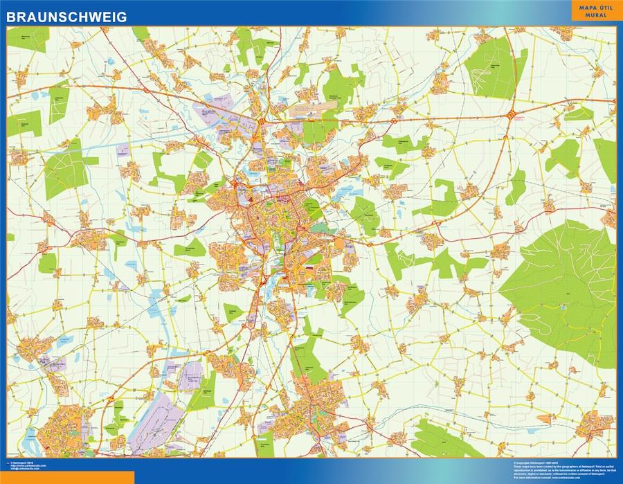 Mapa Braunschweig