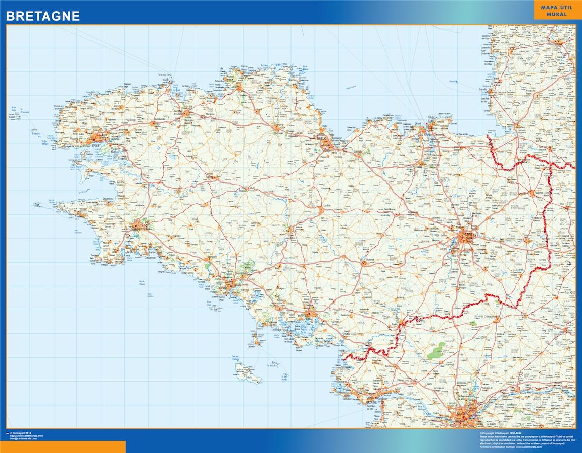 Mapa Bretagne