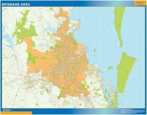 Mapa Brisbane Area