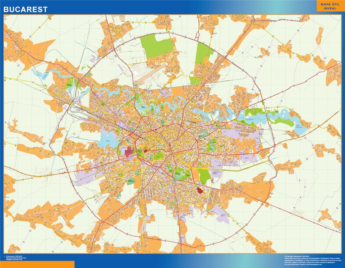 Mapa Bucarest