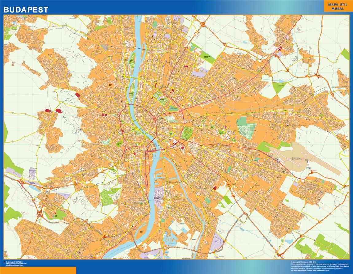 Mapa Budapest