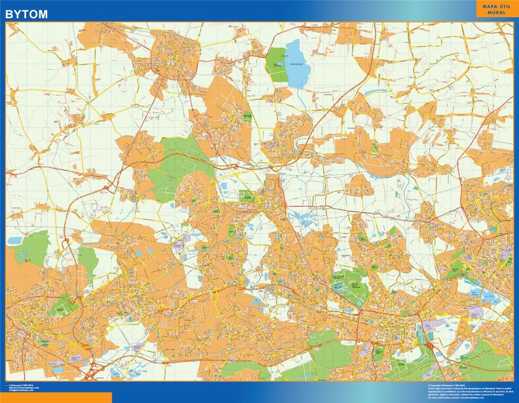 Mapa Bytom