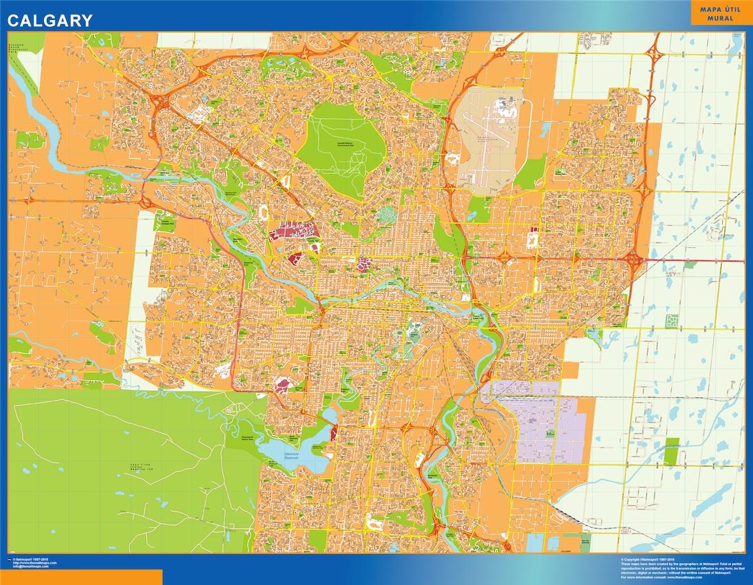 Mapa Calgary