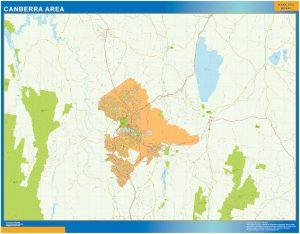 Mapa Canberra Area Australia
