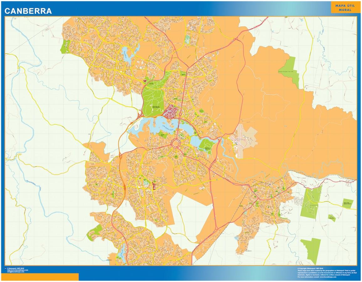 Mapa Canberra