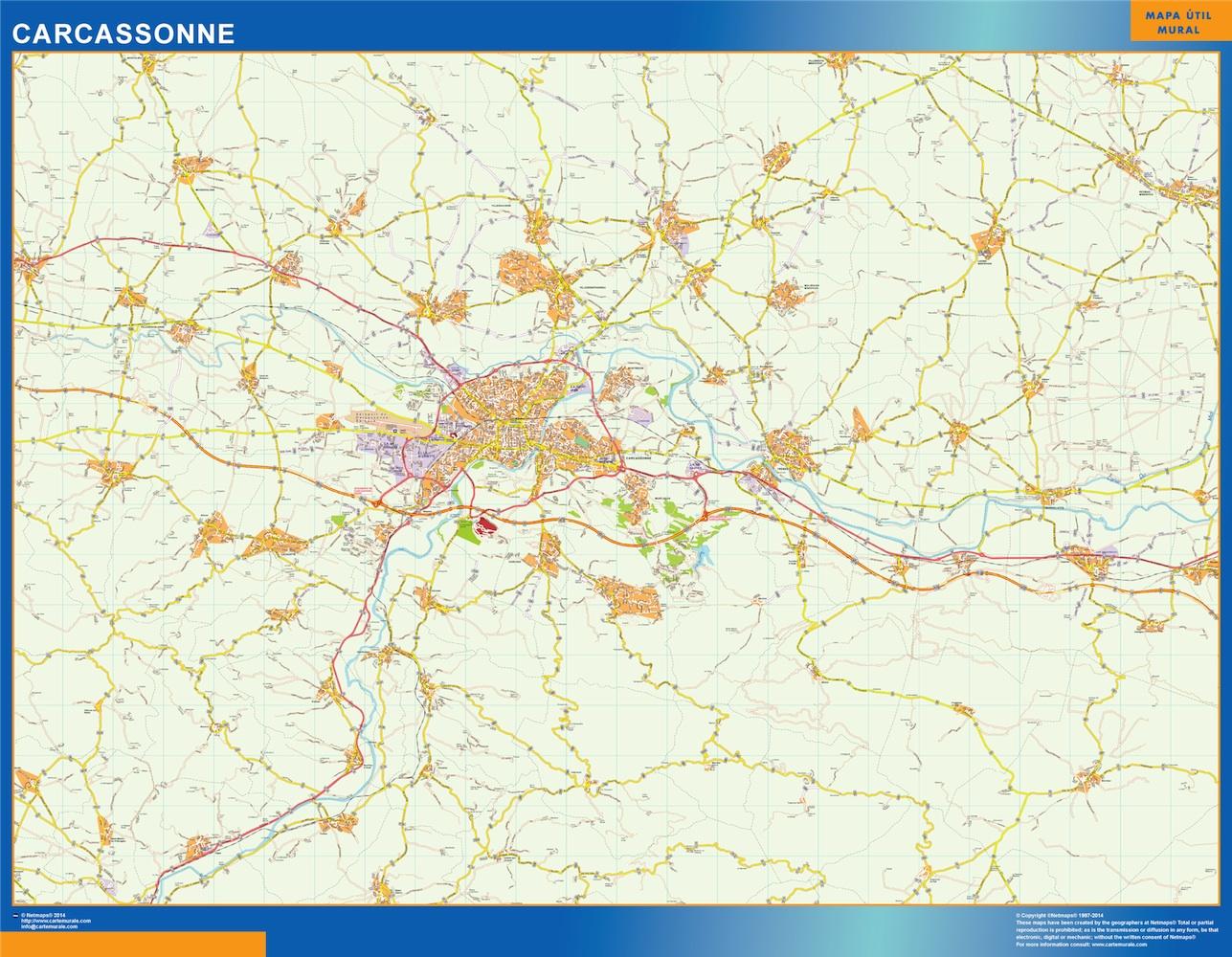 Mapa Carcassonne