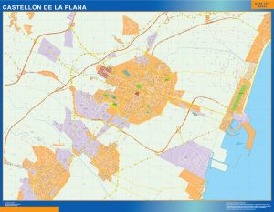 Mapa Castellon De La Plana