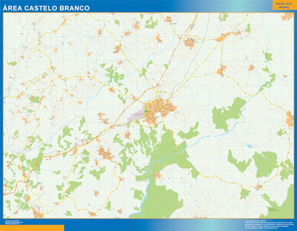 Mapa Castelo Branco Area