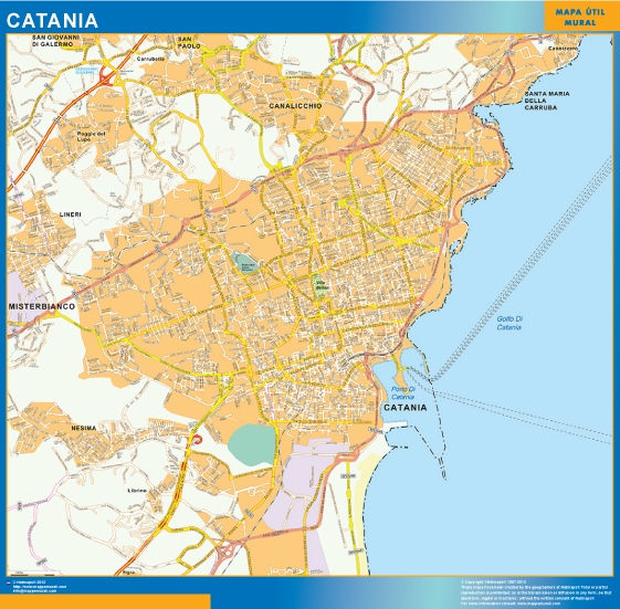 Mapa Catania