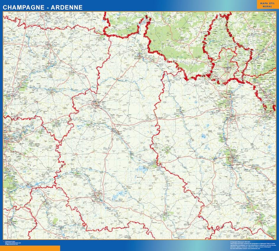 Mapa Champagne Ardenne