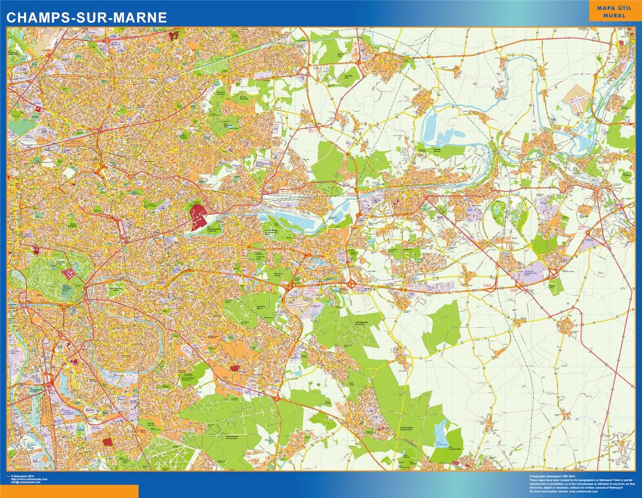 Mapa Champs Sur Marne