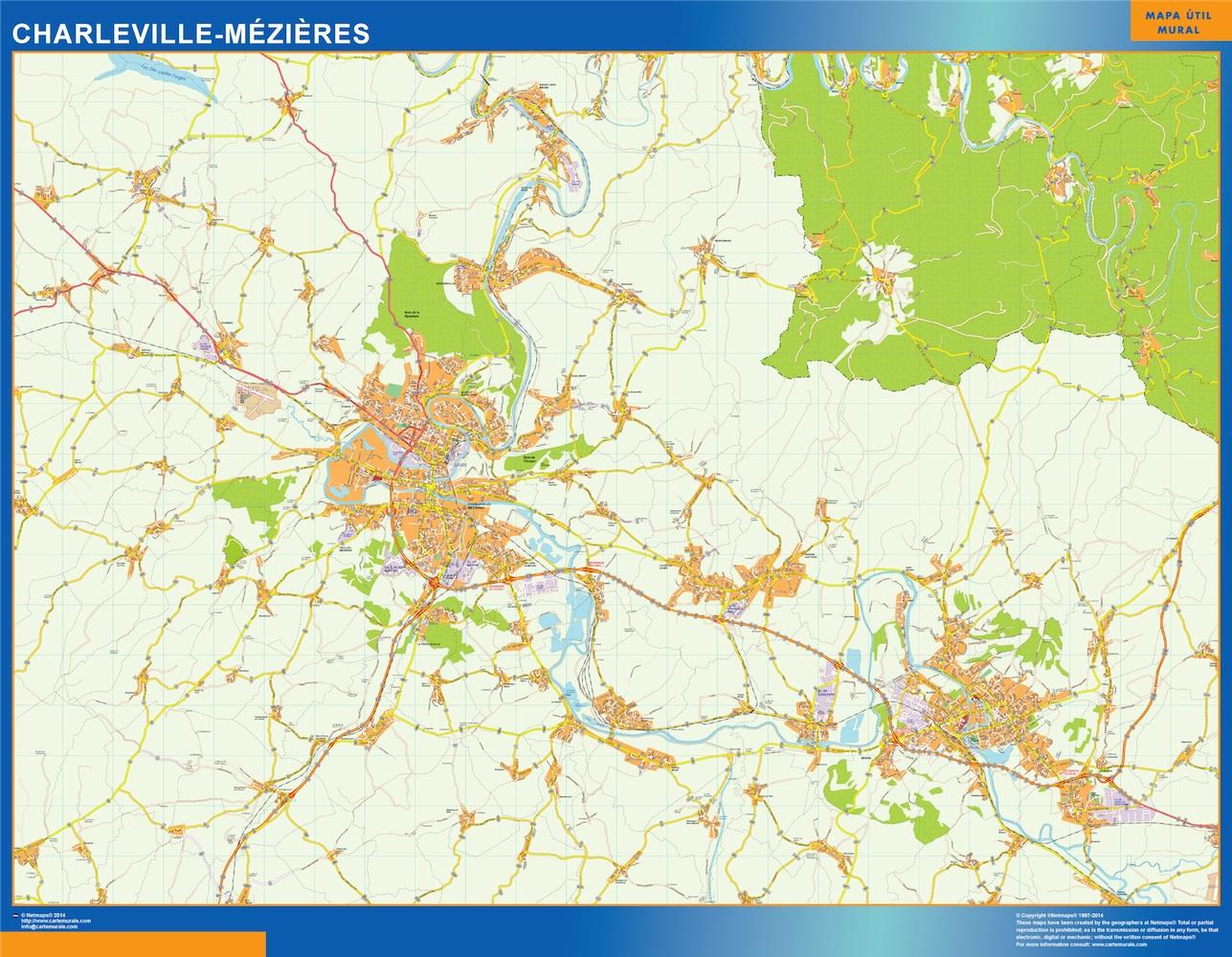 Mapa Charleville Mezieres