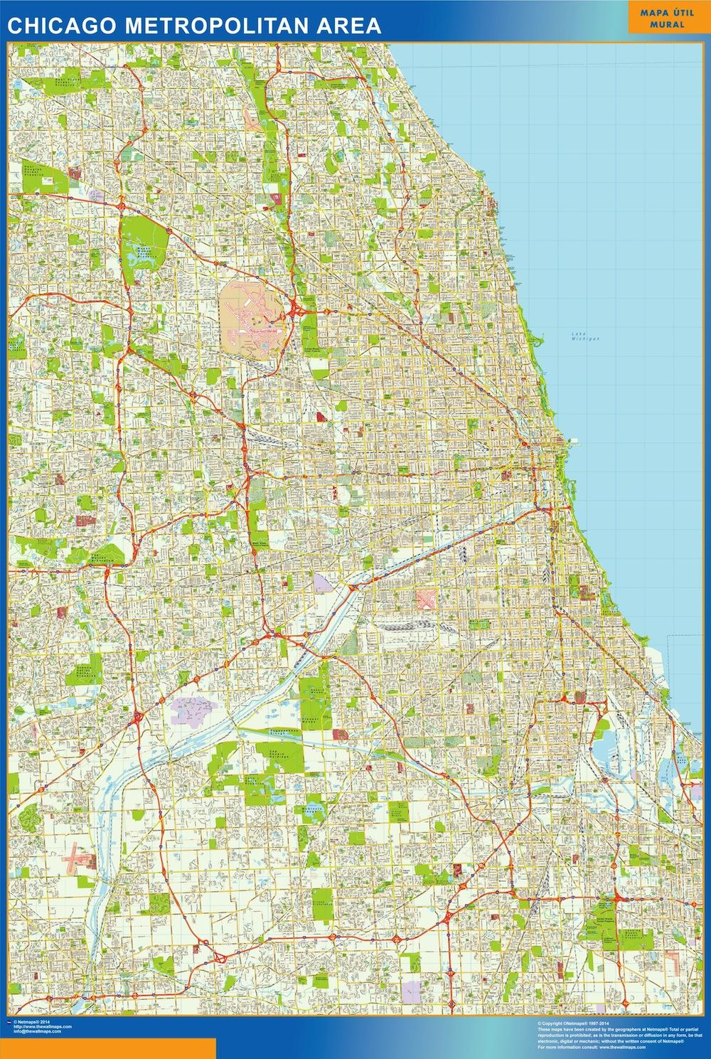 Mapa Chicago