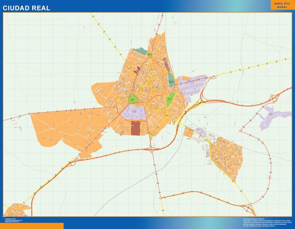 Mapas ciudad real mapas murales espa a y el mundo - Plano de valdepenas ...