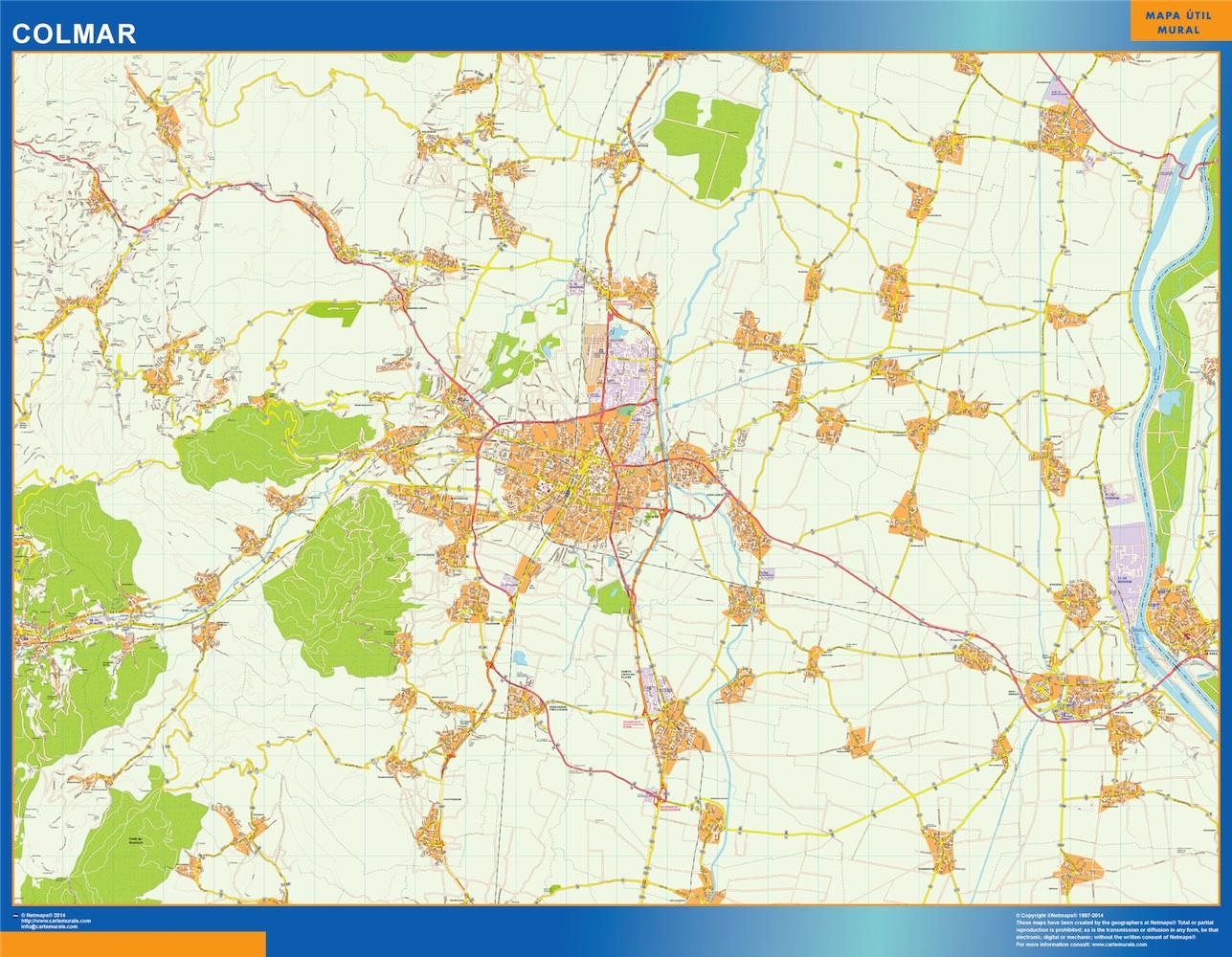 Mapa Colmar