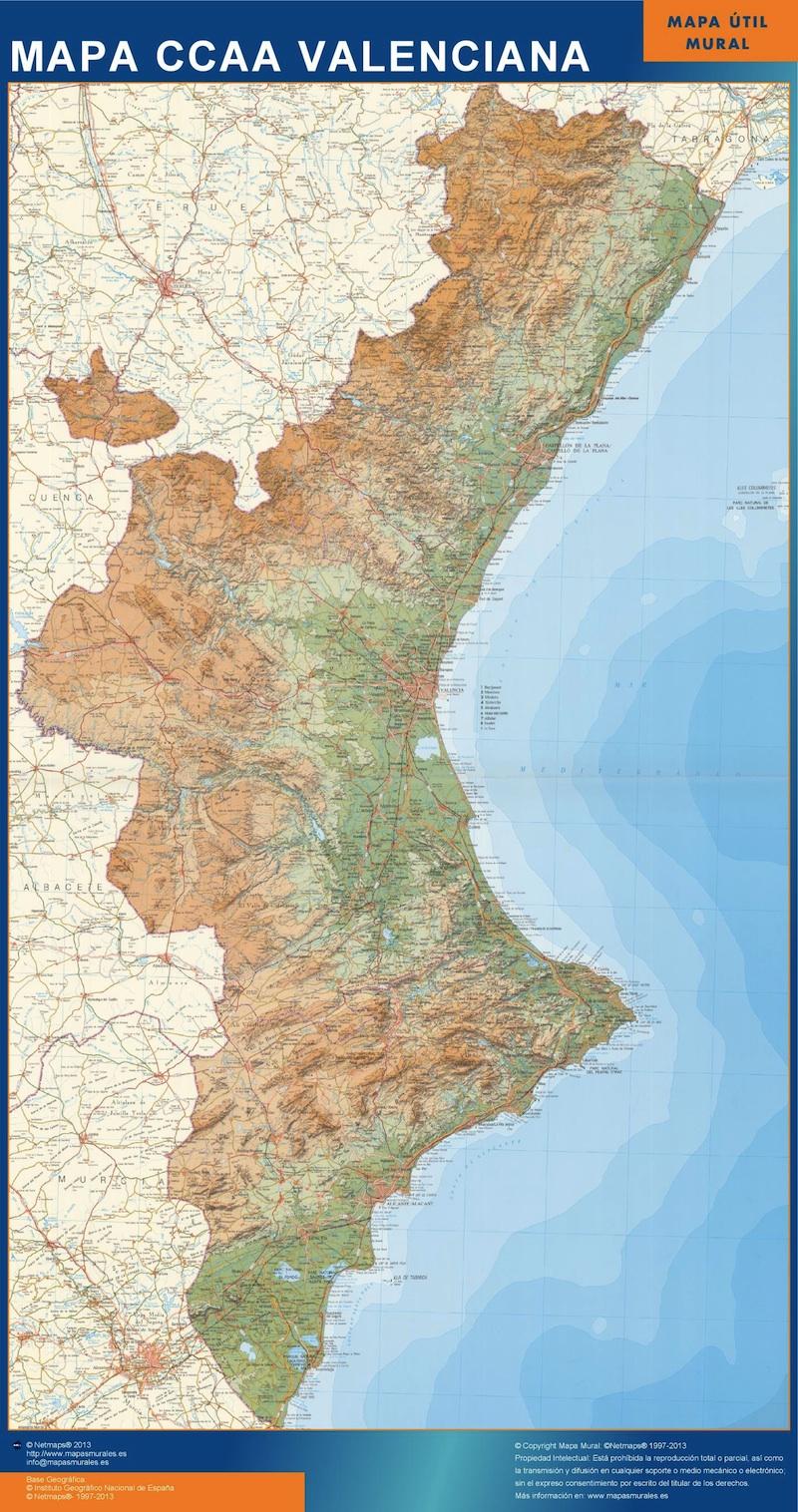 Mapa Comunidad Valenciana
