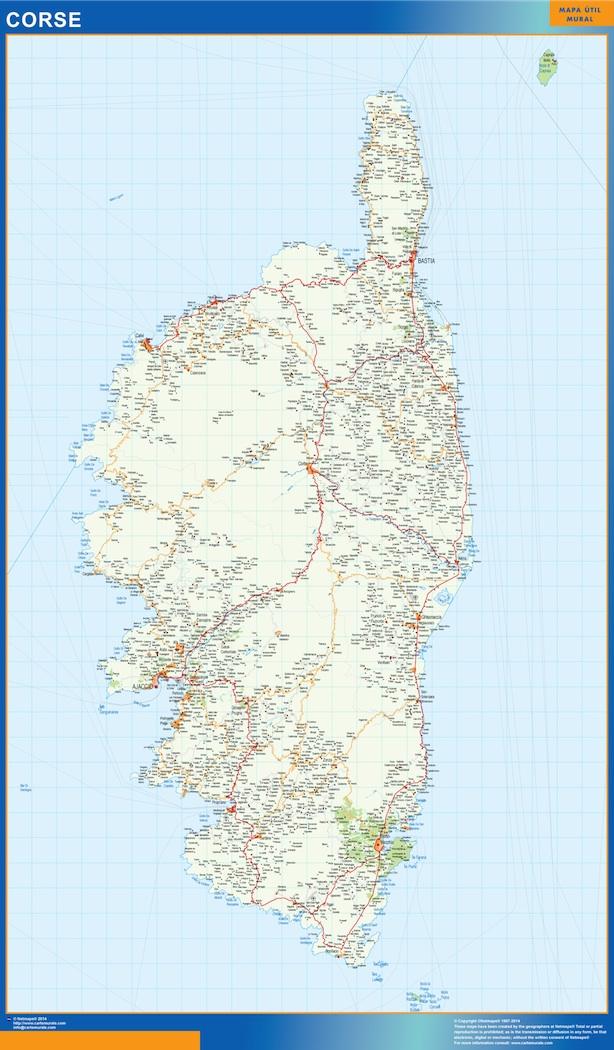 Mapa Corse