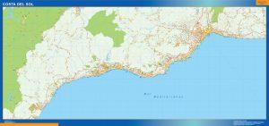 Mapa Costa Sol