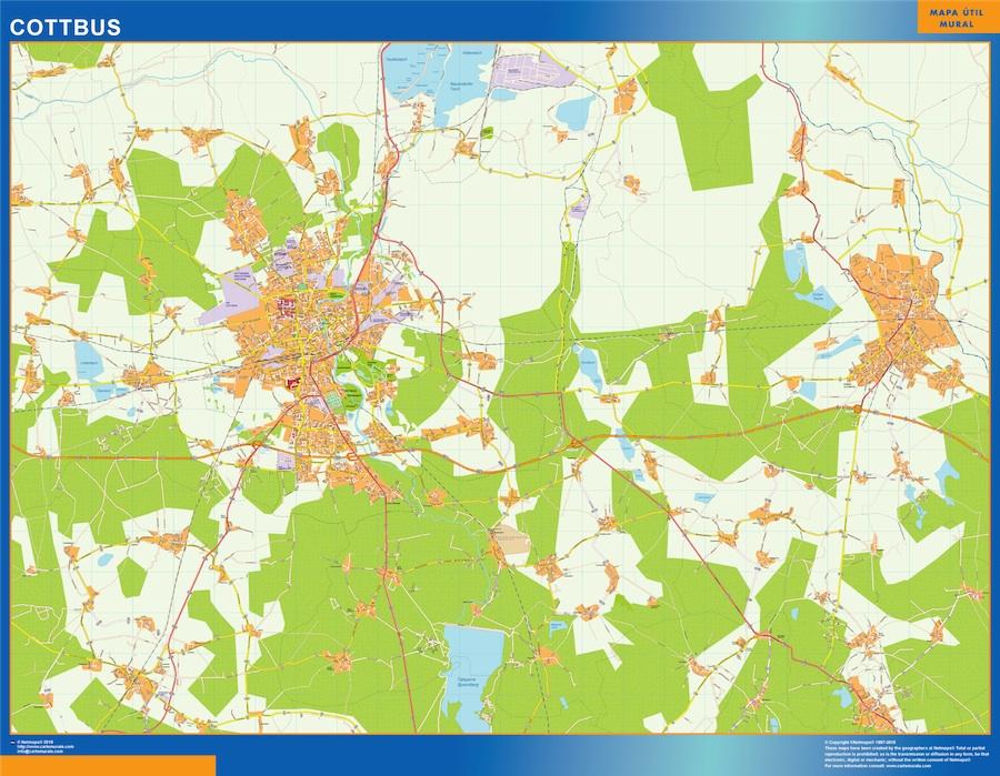 Mapa Cottbus
