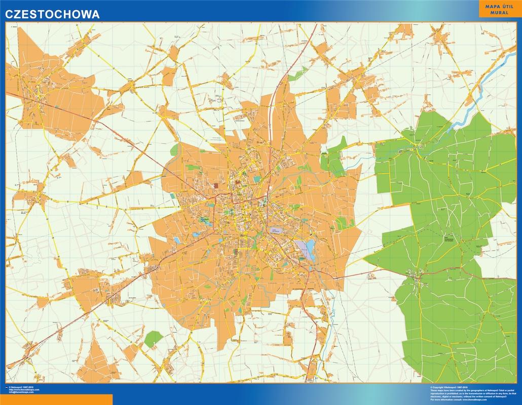 Mapa Czestochowa